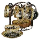 CLEAR CUP  SAUCER Q7